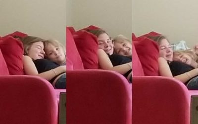 Kids' Saturday hugs gets me thinking about my role as parent